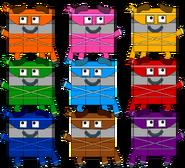 The Ninja Nines as squares