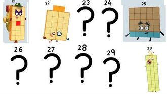 My fanmade Numberblocks 23 29