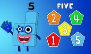 Numberblock 5 (5 Pentagons)