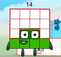 Numberblock 16 (duodecimal)