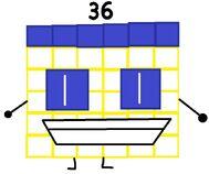Numberblock 36 the Noodle Mukbanger Square