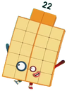 Numberblocks Vector - Twenty-Two (Two Elevens)