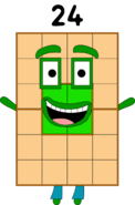 Numberblock 24 The third super rectangle