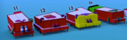 Numberblocks Eleven through Fourteen sleeping