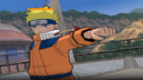 Naruto holding out his fist