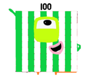 Cute Yoshi as a Numberblock