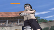 Neji with his arms crossed
