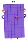 Numberblocks Vector - Sixty (Six Tens)