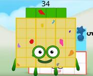 Numberblock 34