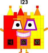 Numberblock 123's disguise
