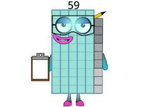 Numberblock 59 by Ryan