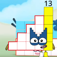 Numberblock 15 (duodecimal)