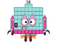 Numberblock 58