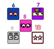 Numberblock Faces 6-10