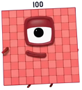 Numberblocks Vector - One-Hundred (Square)