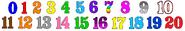 Numberblocks Colored Numbers V1