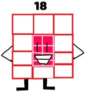 Numberblock 18 the Super Rectangle