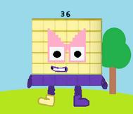 Numberblock 36 png
