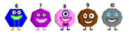 My 6-10 as Numberblock Shapes