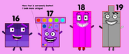 Numberblocks 16-19 Part 3