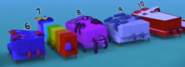 Numberblocks Six through Ten sleeping