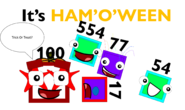 It's Ham'o'ween with Numberblocks