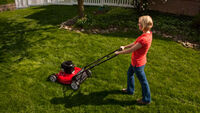 Watch me mow the lawn