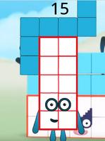 Numberblock 17 (duodecimal)