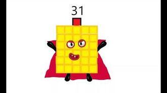My fanmade Numberblocks 31-39