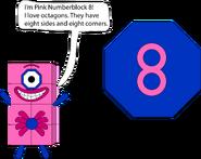 Example of Numberblock 8