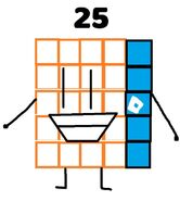 Numberblock 25 the Roblox gamer