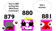 879 and 881 realized that 880 looked like Mimi from Canimals
