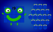 Nineteen with his numberblobs