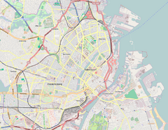 Location map Denmark Copenhagen