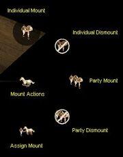 Horse menu