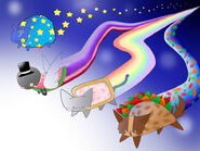 Nyan cat and friends by seekthefursona-d3itou1