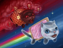 Nyan Cat painting FINALb small