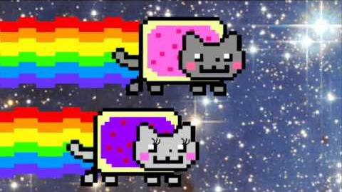 Nyan Cat falls in love!!