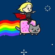 Thor and Nyan Cat