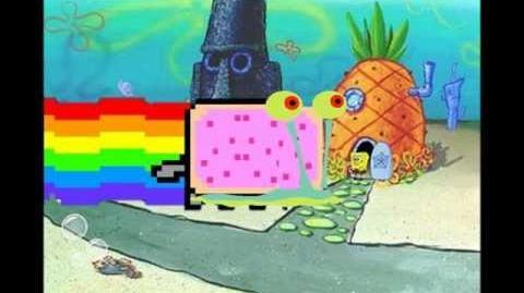 Nyan cat Spongebob version