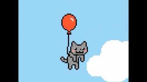 8-bit Balloon Kitty