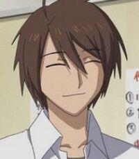 Haruhiko smiles