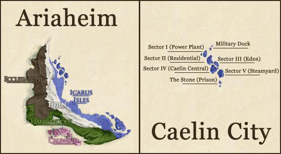 Caelin City map