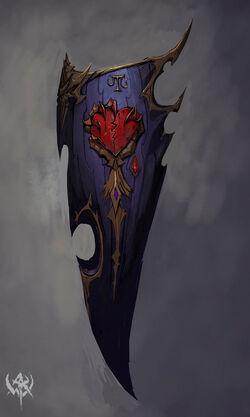 Broken heart banner