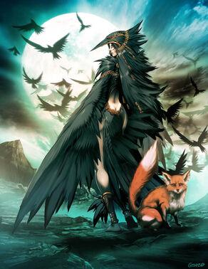 Raven spirit by genzoman-d31p1eb