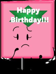 Happy birthday card pose