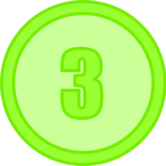 Score 3 Token (8th Place, 9th Place and 10th Place)