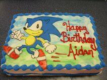 Sonic cake cameo