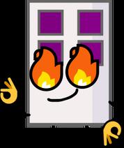 Iron door hot