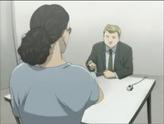 Gillen while interrogating Peter Jurgens
